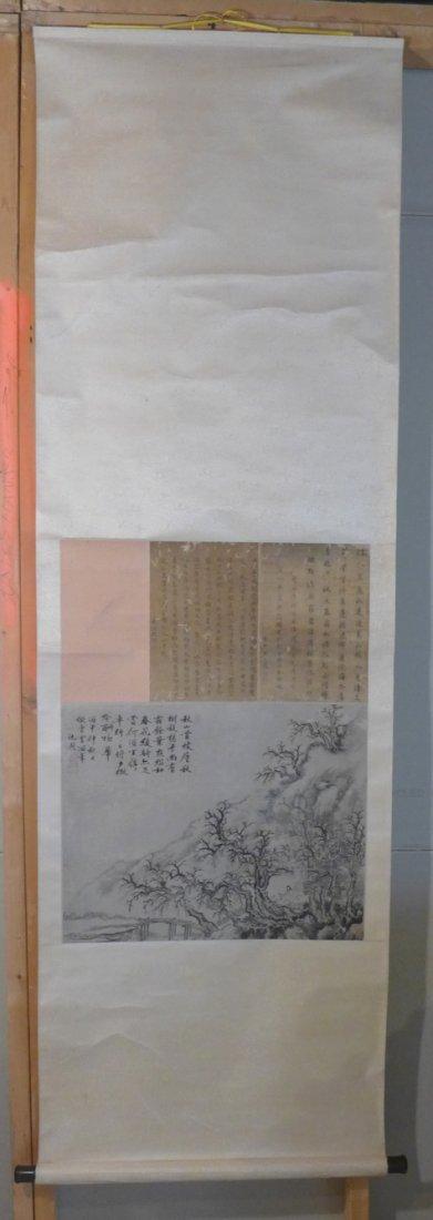 Chinese original Ming landscape by Shen Zhou(1427-1509)