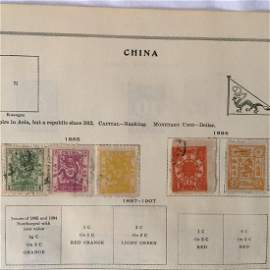 Imperial China stamps (candarines ).
