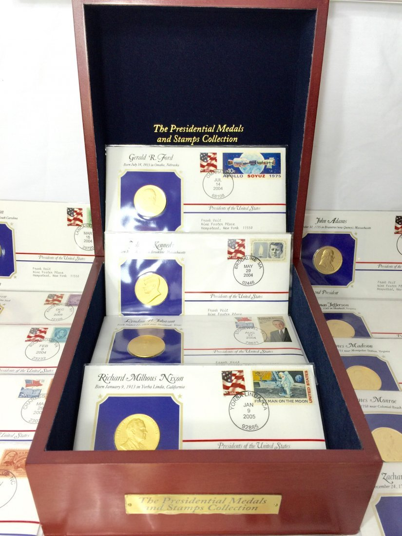 42 Presidential medals and stamp collection