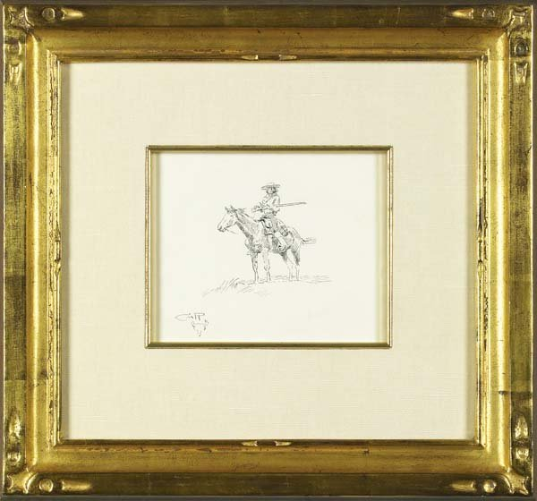 7: C M Russell Signed Pen & Ink