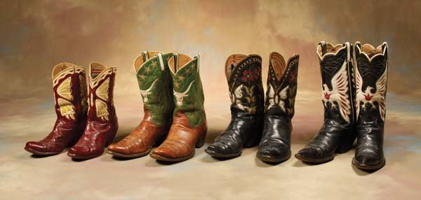 22: Four pairs of Fancy Cowboy Boots