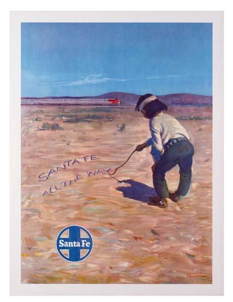 31: Six Santa Fe Railroad Posters