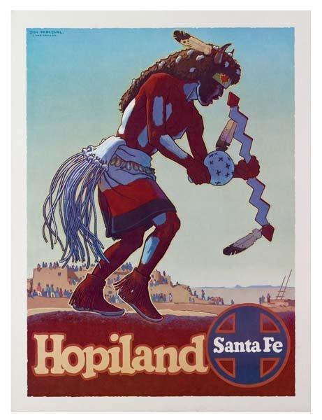 31: Six Santa Fe Railroad Posters - 3