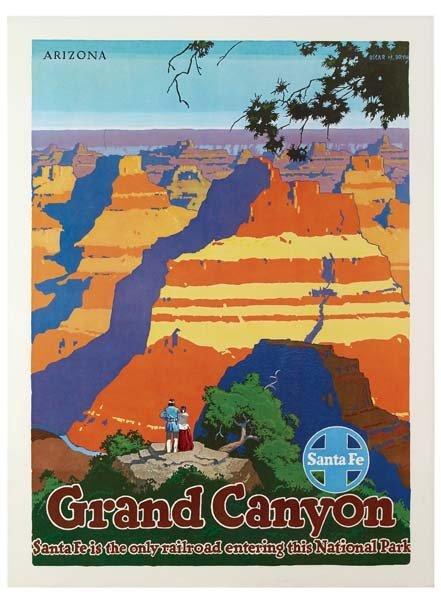 31: Six Santa Fe Railroad Posters - 4