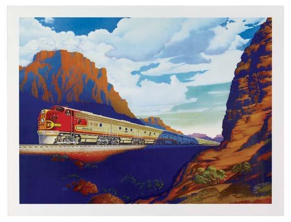 31: Six Santa Fe Railroad Posters - 6