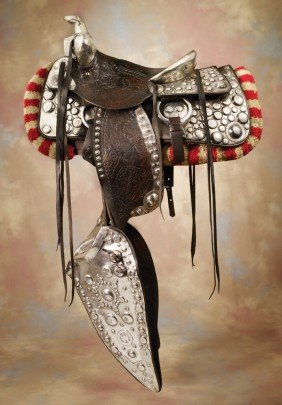 20: Newell Silver Parade Saddle with Bohlin Parts