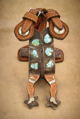 24: Navajo Mounted Gal Leg Spurs
