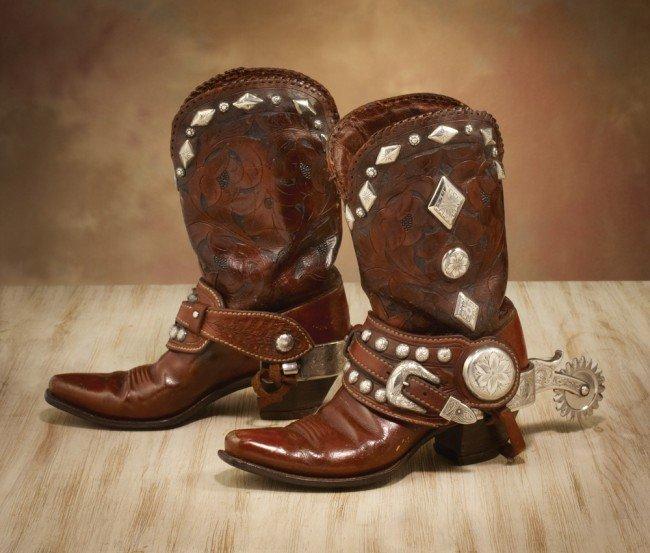 25: Phillip Fredholm Spurs on Edward H Bohlin Boots