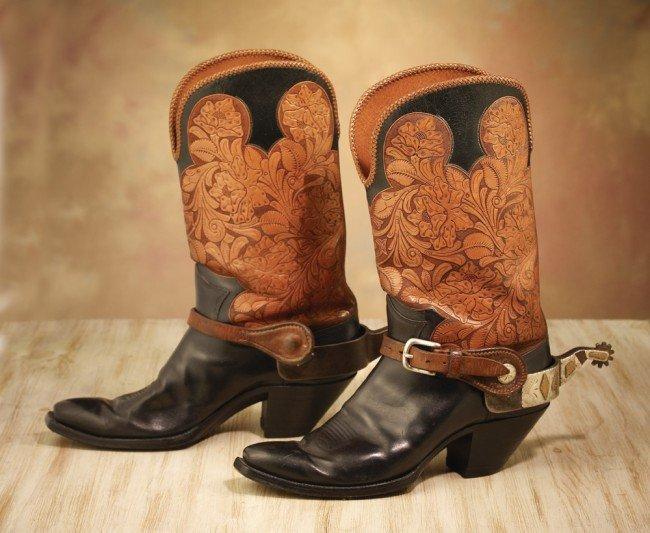 27: Frank Bradney Spurs on Custom Boots