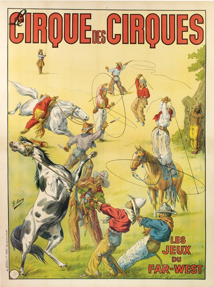 1: Early Stone Litho Wild West Poster