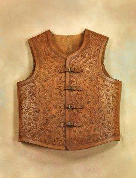 7: 19th Century Floral Carved Vest