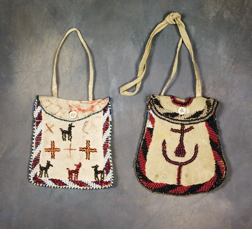 17: Two Pictorial Beaded Bags