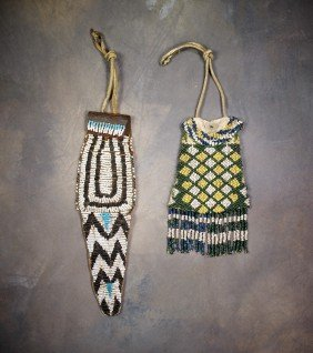 20: Two Apache Beaded Bags