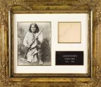 118: Framed Geronimo Original Signature