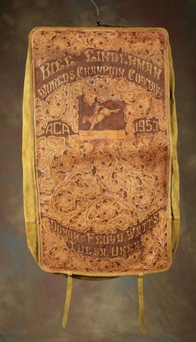 Bill Linderman World Champion Tooled Leather Bag