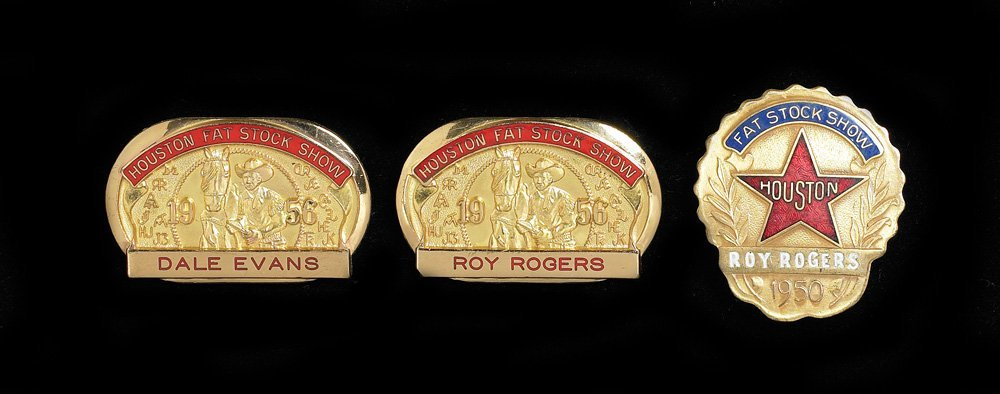 Roy Rogers and Dale Evans Rodeo Badges/Pins
