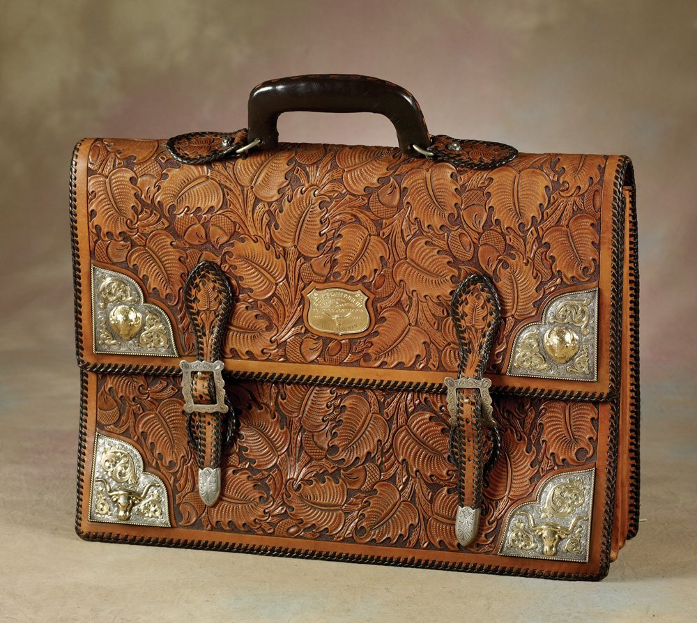 Stunning Edw H Bohlin Silver & Gold Briefcase made for