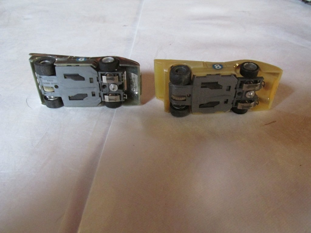 2 Vintage Tyco slot cars 2-3 inches - 2
