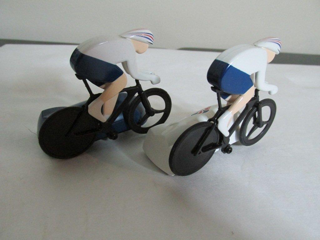 Rare Olympic riders micro mini slot cars - 2