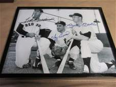 Ted Williams, Yogi Berra and Mickey Mantle Autographed