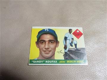1955 Sandy Koufax Rookie Card #123