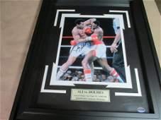 Muhammad Ali Vs Larry Holmes Both signed photo coa