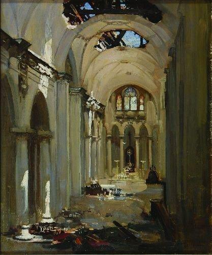 17: ARTHUR STREETON (1867 - 1943) - Cathedral Interior,