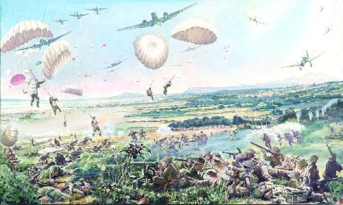 21: VERNON JONES (1908-2002) - Battle of Retimo, Crete,