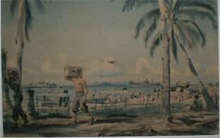 Dwight Shepler - Lithograph Of Guadacanal