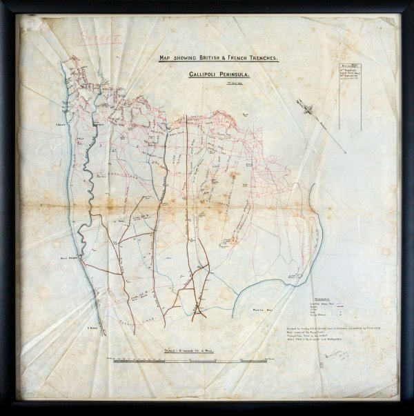 5: Gallipoli Map Marked 'Secret'