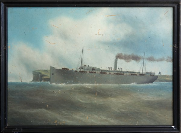 6: Artist Unknown WWI Troopship departing Sydney.