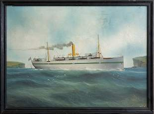 Artist Unknown - WWI Hospital Ship wounded troops