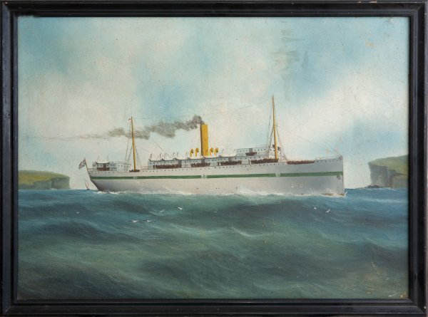 7: Artist Unknown - WWI Hospital Ship wounded troops