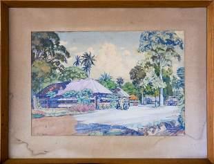 Watercolour - N F Suhr Reserve - Lae New Guinea