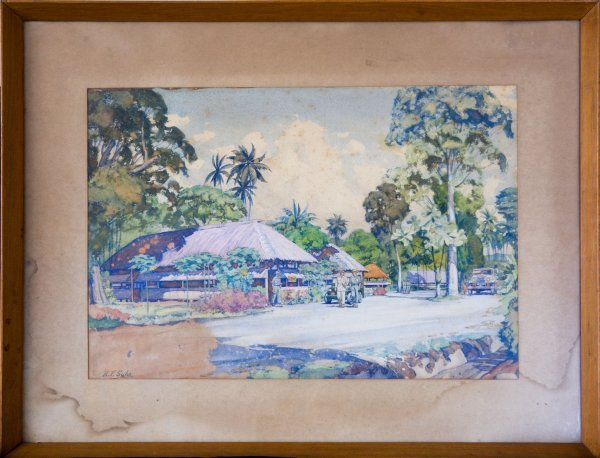 8: Watercolour - N F Suhr Reserve - Lae New Guinea