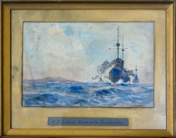11: Gallipoli' Watercolour By E. Russell 1915
