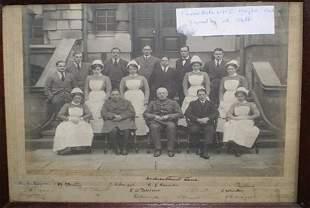 Framed Photograph WWI Hospital Staff UK