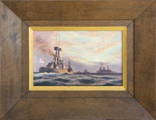 18: Pr Oil Paintings -  Battle of Heligoland Bight