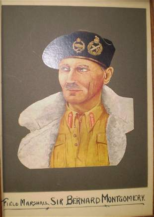 Framed Coloured Print Of Field Marshall Montgomery