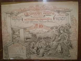 Framed Great War Certificate Of Service