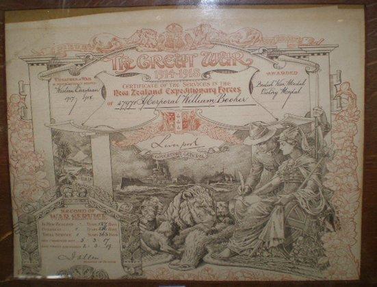 22: Framed Great War Certificate Of Service