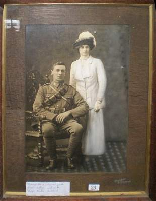 Framed Hand Tinted Photograph