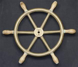 45: WWII Japanese Midget Submarine Steering Wheel