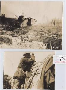 72: WW1 Two Original Photographs Messines