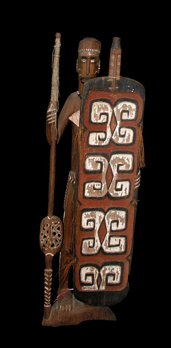 2116: Asmat Figure with Spear and Shield