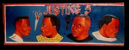 2164: Barbershop Placard 'Justing 5'