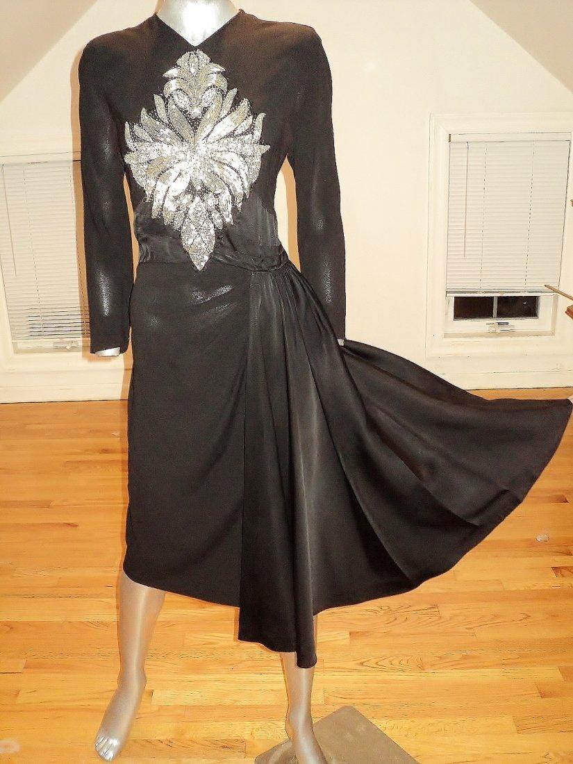 1940 Hollywood MGM Wardrobe Publicity Dress Rose Lash