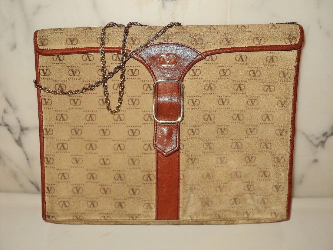 Valentino 1970 Monogram Leather/Suede Handbag Chain