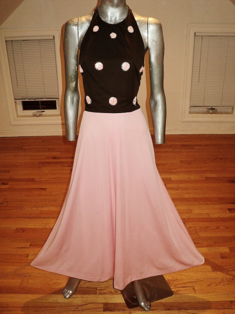 Michael Novarese 70s Iconic Halter Gown Sequins Jacket