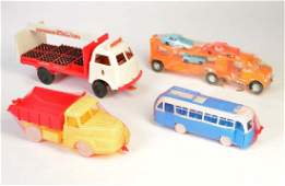 Konvolut 2 LKW Bus Autotransporter mit Mini